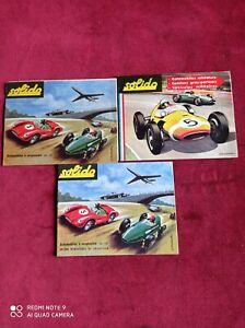 3 anciens catalogues d'origine SOLIDO, voitures avions miniatures ,dépliant  .