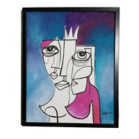 "PAINTING ORIGINAL ACRYLIC ON CANVAS (FRAME INCLUDED) CUBAN ART 16""X20"" By Lisa."