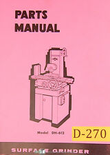 Doall DH612, Surface Grinder, Parts List manual