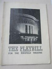 May 24 - 1948 - Ziegfeld Theatre Playbill - Brigadoon - David Brooks