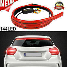 Car Red 144 LED Centre High Mount Third Stop Brake Light Bar Signal Flowing Lamp