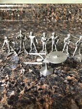 LOT 8 Star Trek TOS  Rawcliffe Pewter Figures AND NCC-1701 Enterprise
