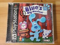 Blues Clues Big Musical Game (Sony Playstation 1 PS1) Complete CIB Black Label