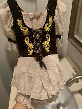 Figure Skating Competition Dress Child Large Custom Brown With Lace Worn Once