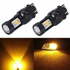 JDM ASTAR 2pc Super Bright 3157 3156 Amber 3030 SMD LED Turn Signal Lights Bulbs