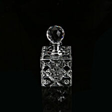 Clear Crystal Perfume Bottle Refillable Cylinder Stopper Empty Wedding Gift 5ml