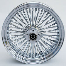 "Chrome Ultima 48 King Spoke 16"" x 3.5"" Front Wheel for Harley and Custom Models"