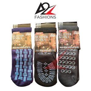Mens Lounge Gripper Thermal Winter Slipper Socks Non-Slip Grip Bed Socks UK 6-11