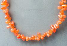 KARNEOL Tropfenkette / Collier           ... in orange