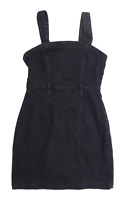 Denim Co Womens Size 14 Denim Strappy Black Midi Dress (Regular)