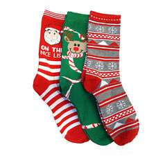 3 Pairs: Refael Collection Christmas Style Socks - Size 9-11