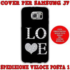 CUSTODIA COVER MORBIDA IN TPU PER SAMSUNG GALAXY J7 (J700) 2015 LOVE CUORE