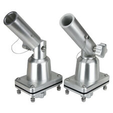 Boat Outrigger Pole Bases, Anodised Fishing Trolling Outrigger Mounts Pair