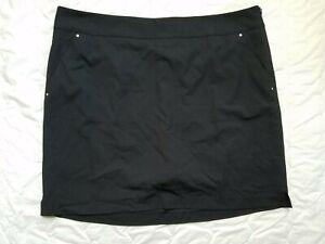 1 NWT GREG NORMAN WOMEN'S SKORT, SIZE: 14, COLOR: BLACK (J185)