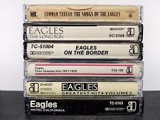 Eagles Cassette Tapes Lot Of 5 + 1 hotel hits 2 long border  2e