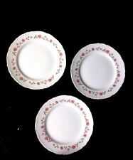 3 ETERNAL ROSE FINE CHINA JAPAN Handpainted & crafted Salad Plates Gold Trim