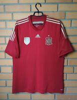 Spain 2014 - 2015 football shirt Home soccer jersey size XL Adidas