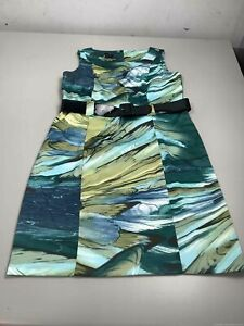 Women's NWT AGB Dress Blue & Green Dress Size 14
