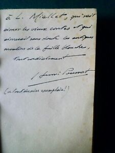 Henri Pourrat:Dans l'herbe des 3 vallées,1944,bois gravés François ANGELI, envoi