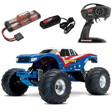 NEW Traxxas BIGFOOT 2WD RTR RC Truck RED WHITE & BLUE w/Battery & Quick Charger
