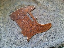 Tooled Leather Weed Leaf Stoner Marijuana 420 Pickguard Fender Telecaster Tele