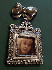 VINTAGE SILVER PICTURE FRAME PIN/BROACH TO WEAR- FITS 3/4 INCH PICTURE