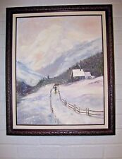 """Original  Oil Painting by Pennsylvania Artist Esther French - """"Coal Miner"""" 1991"""
