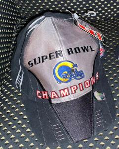 St. Louis Rams Super Bowl 34 XXXIV Official Locker Room Football Hat Cap NWT