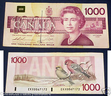 1988 $1000 EKX Replacement CANADA  BANKNOTE