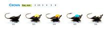 "Tungsten ICE FISHING ""SHARK"" Jig Heads Crown. Japanese hooks. 2pcs. #831"