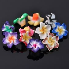 20pcs 20mm Mixed Lily Flower Polymer Clay Fimo Loose Craft Beads Jewelry Making