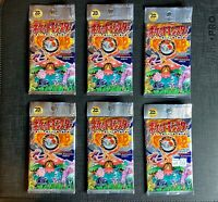 (x6) Pokemon Boosters Pack Base Set 20th Anniversary Japanese Factory Sealed