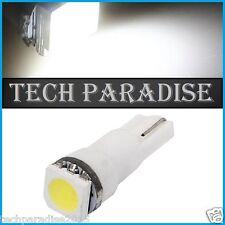 1x Ampoule T5 W1.2W W2X4.6D ( pour B8.5D ) LED SMD Blanc White Neo Wedge