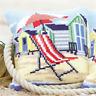Beach Chair Chunky CrossStitch Cushion Kit Xmas Printed Tapestry Canvas Cushion