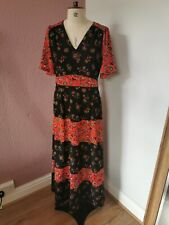 Matalan Falmer Heritage Black And Red Printed Dress Size 12 BNWTS RRP £35