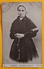 Cartolina Lourdes - Bernadette Soubirous - 1900