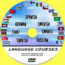 7 BEGINNERS LANGUAGE COURSES PC-DVD AUDIO & TEXT SYSTEM THAI TURKISH RUSSIAN NEW