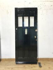 SOLID OAK FRONT DOOR-WOODEN-EXTERIOR-1930S-PERIOD-HARDWOOD-EDWARDIAN-VICTORIAN