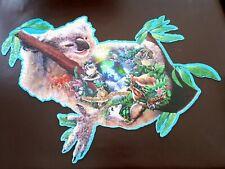 SunsOut Out on a Limb 1000 piece koala shaped jigsaw puzzle