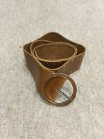 Women's Mango Leather Brown Belt With Buckle Size 85 Cm
