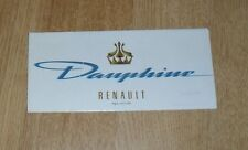 Renault Dauphine Brochure 1960