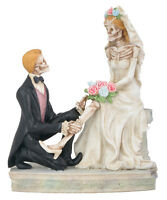 NEW Day of the Dead Wedding Couple Love Never Dies Garter DOD Statue 7960