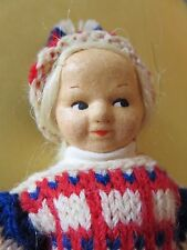 XLC Ronnaug Petterssen Ski girl Doll Norway Norwegian Handmade Cloth Scandinavia