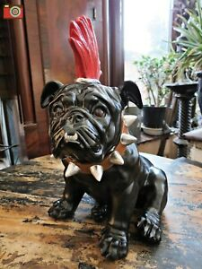 "LARGE PUNK BULLDOG FIGURE, ""SPIKE"", Mohican Dog, Great Character. Lovely Gift"
