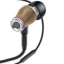 GOgroove AudiOHM WD Real Walnut Wood Earbuds w/ Handsfree Microphone- Light
