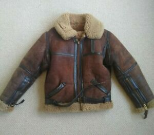 Irvin Aviation Leather Sheepskin Flying Jacket 36/37
