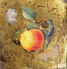 Starlie Sokol Hohne Untitled Fruit Mixed Media Artwork w/ gold leaf Make Offer!