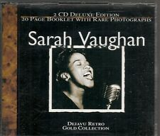COFFRET 2 CD COMPIL 36 TITRES--SARAH VAUGHAN--GOLD COLLECTION
