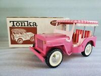 Vintage Tonka Elvis Presley Jeep Surrey Hot Pink Pressed Steel Toy 350 Boxed