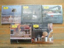 Lot de 5 CD - SEALED - NEW - Chopin - Bach - Beethoven - Dvorak - Mendelssohn